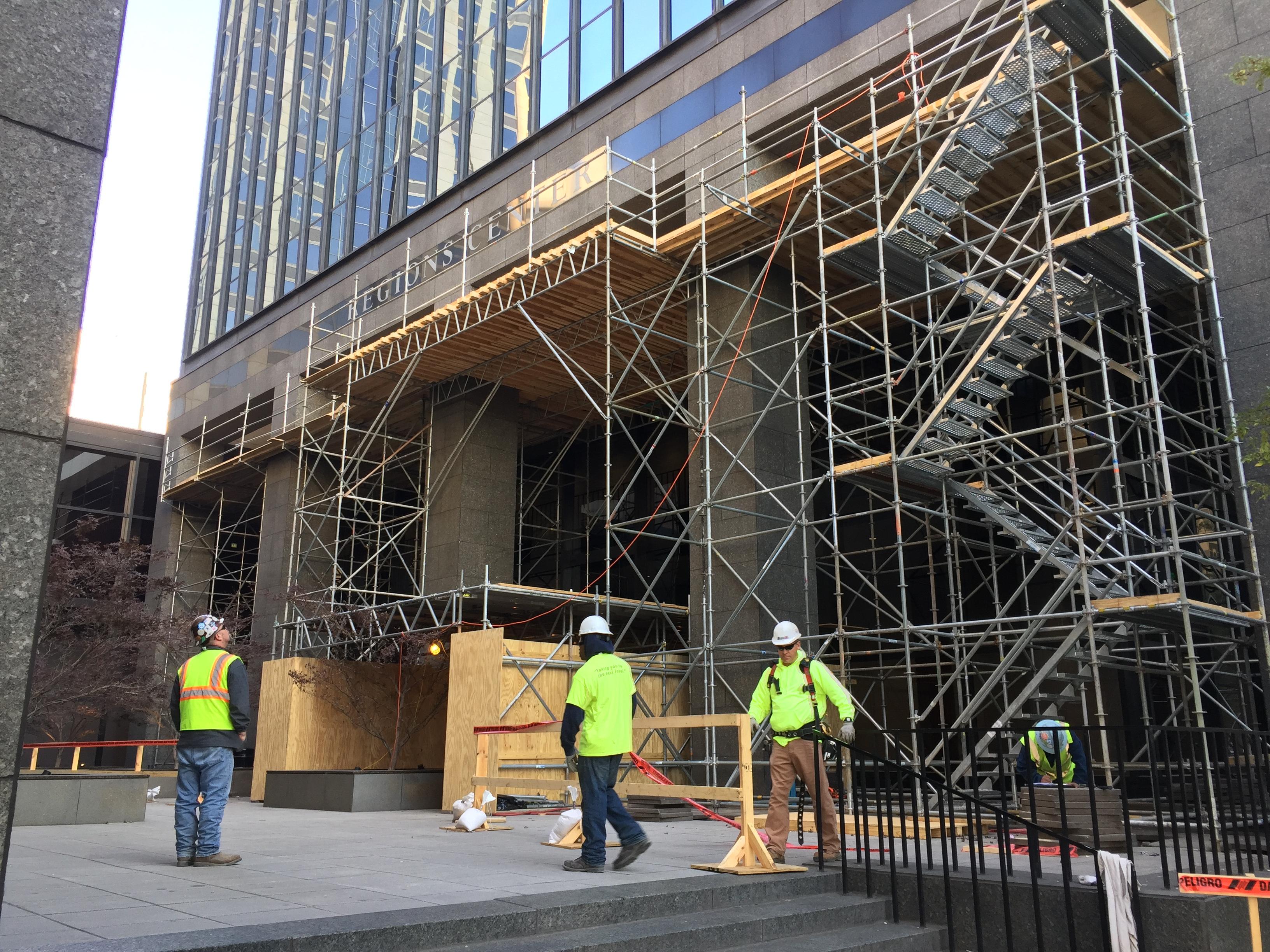 Regions Bank scaffold