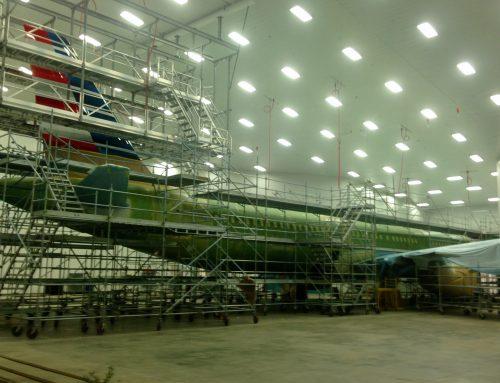 A320 Jet Planes Scaffold