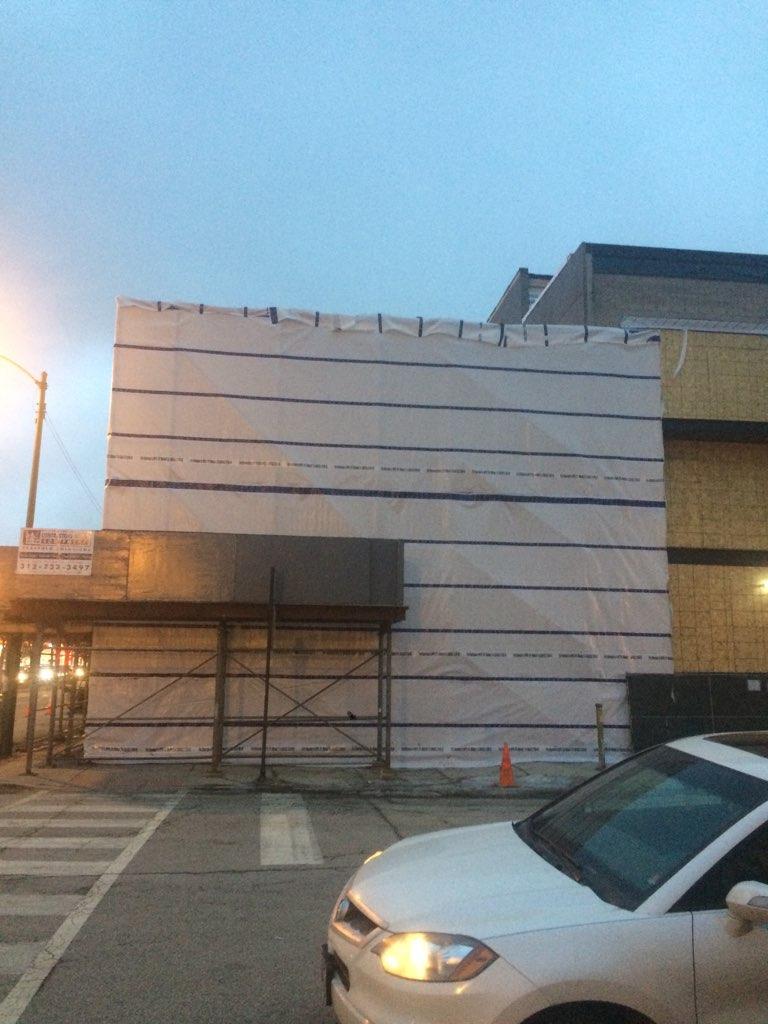 1605 W Ohio St winter enclosure scaffold 5