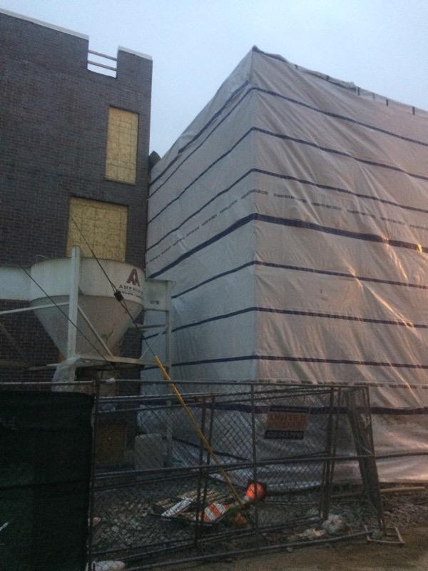 1605 W Ohio St winter enclosure scaffold