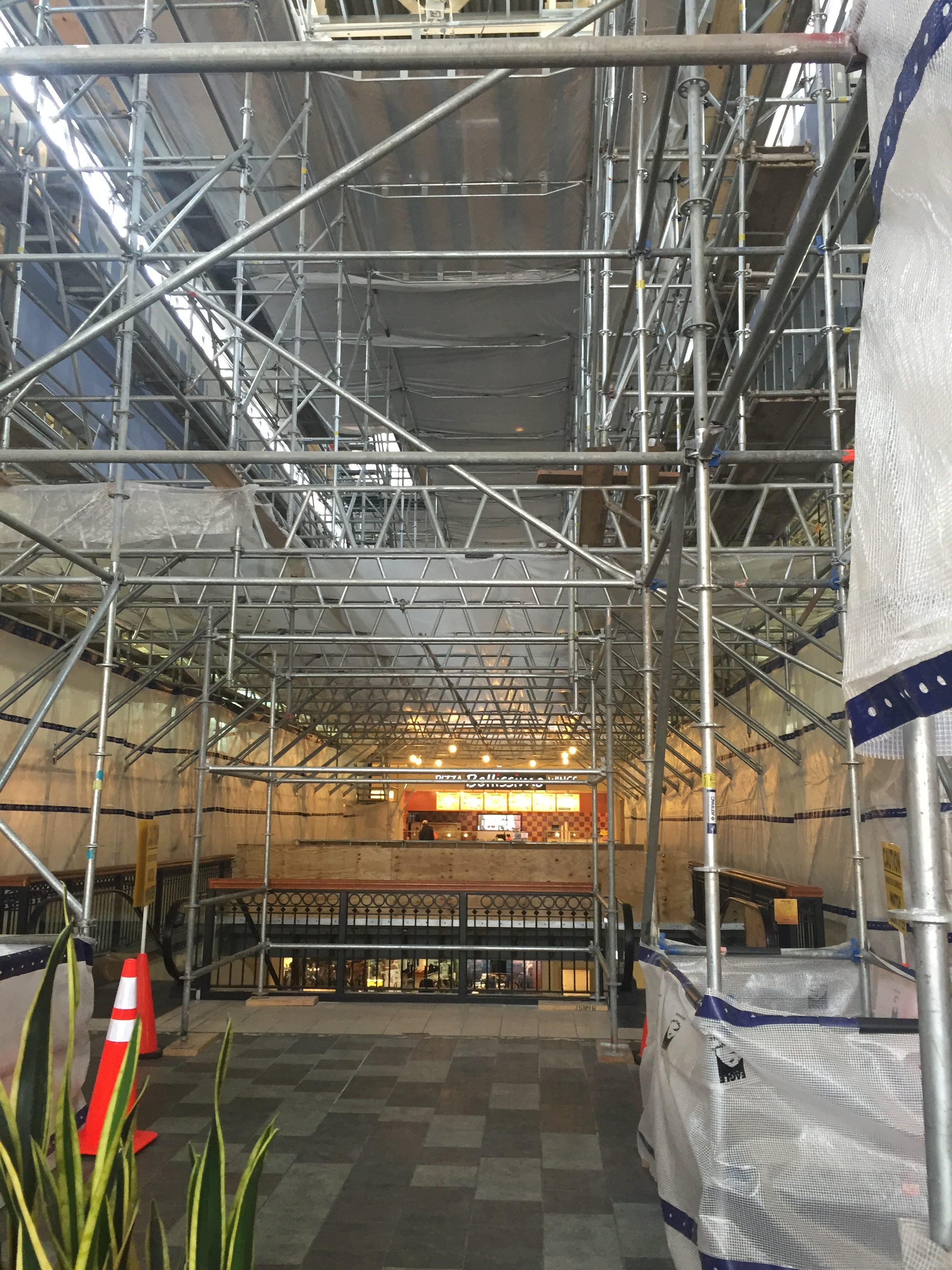 Brookwood Mall Renovation scaffold 10