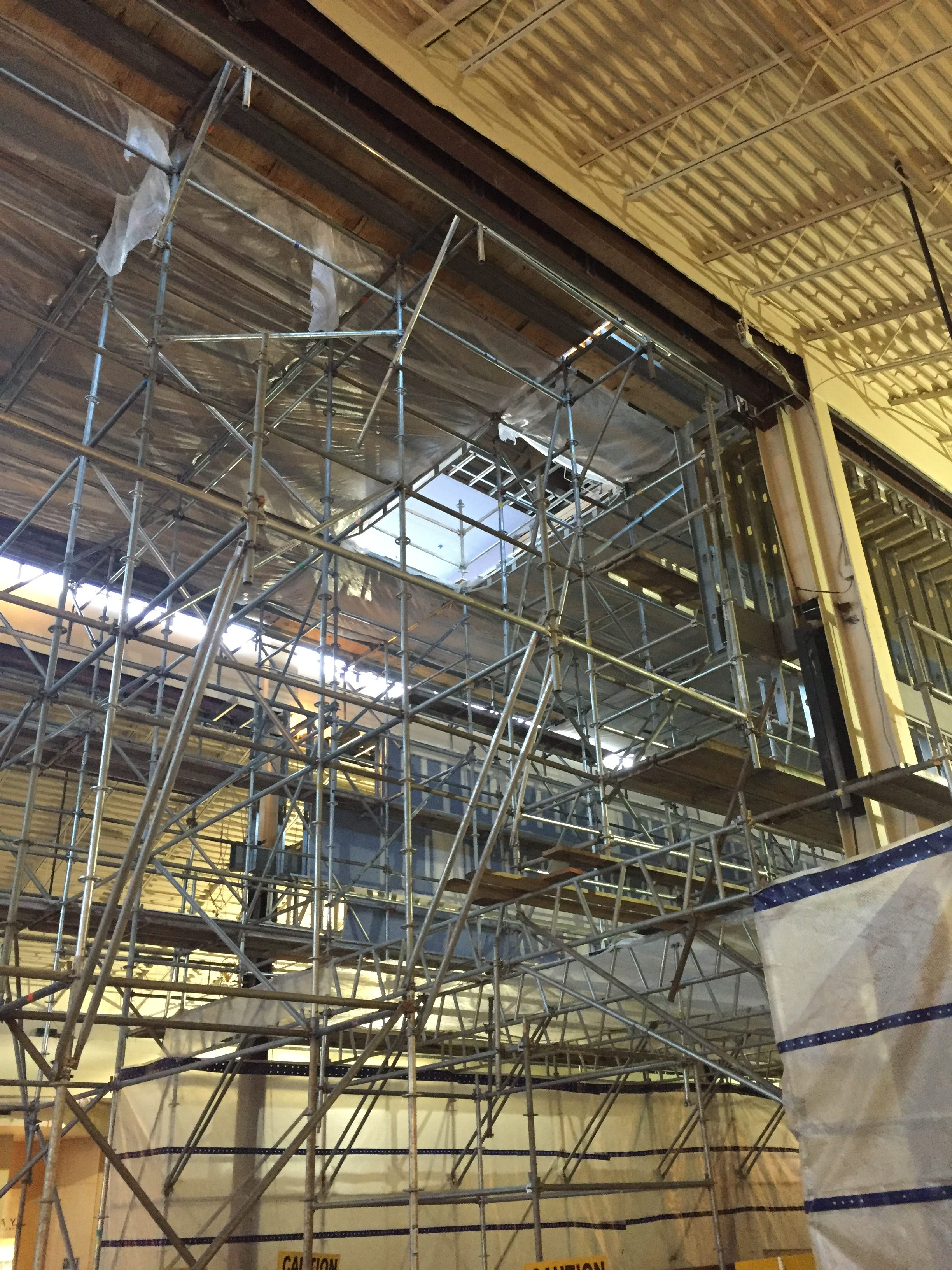 Brookwood Mall Renovation scaffold 5