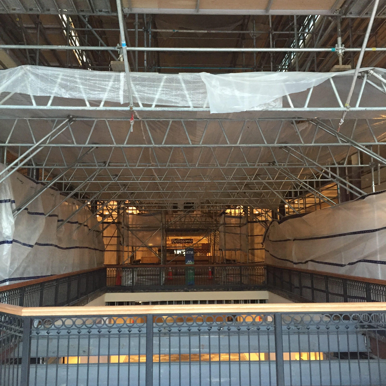 Brookwood Mall Renovation scaffold 2