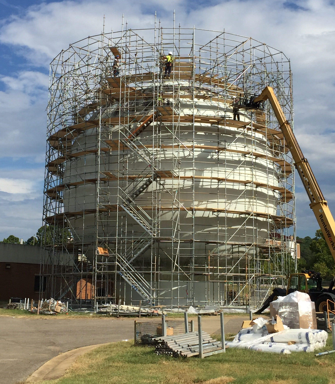 Round Sphere Tank scaffold