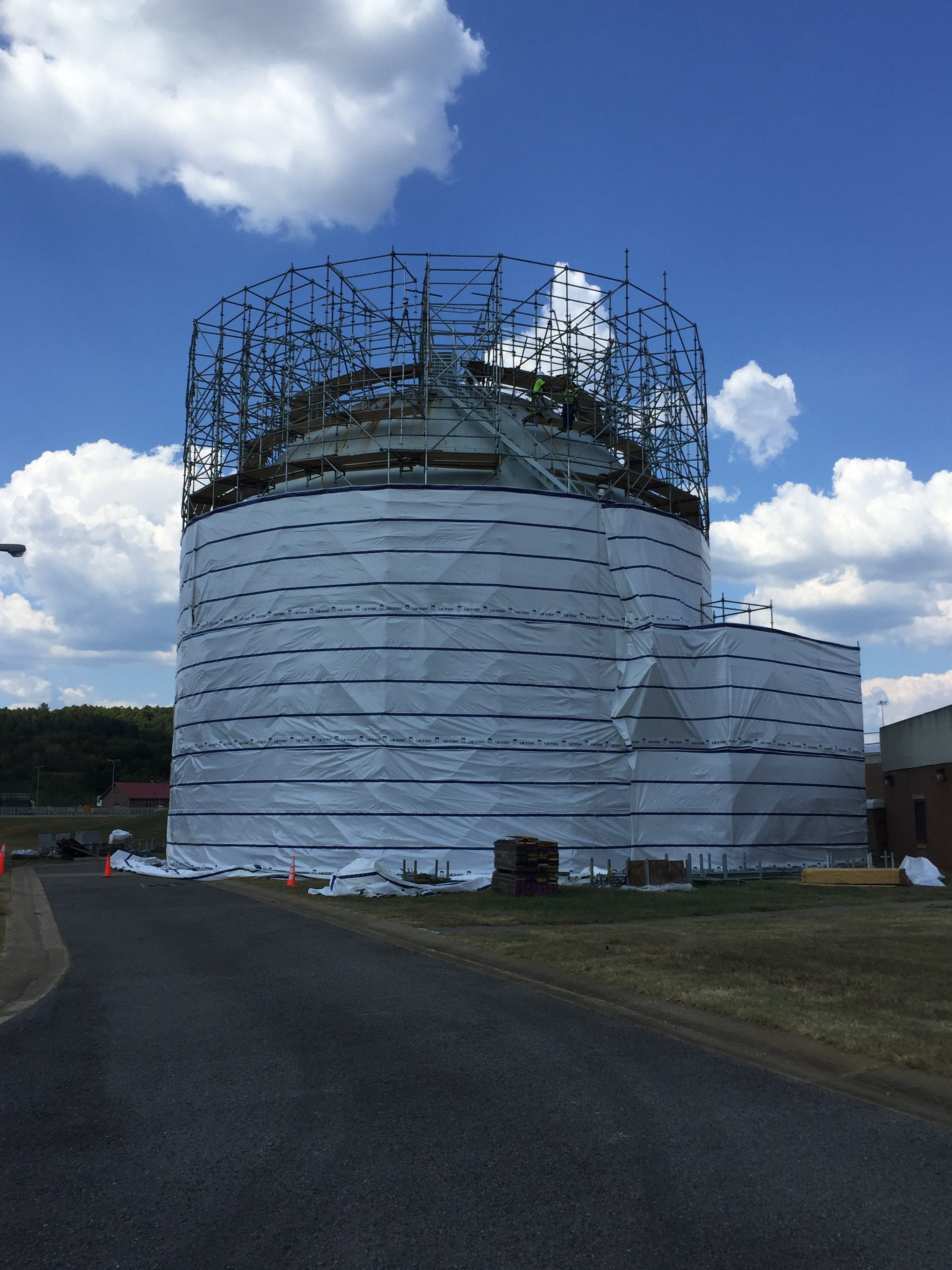 Round Sphere Tank scaffold 6