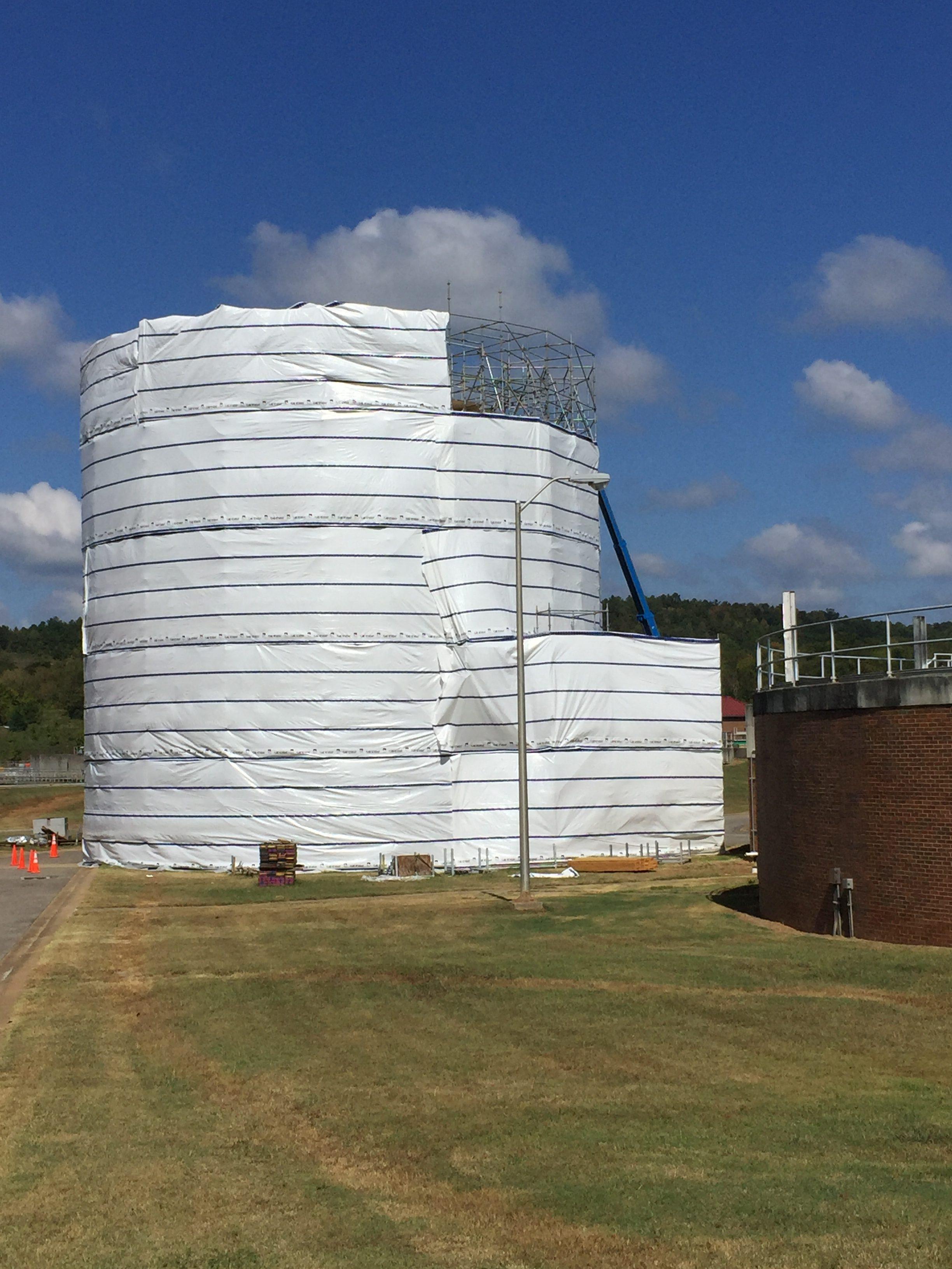 Round Sphere Tank scaffold 4