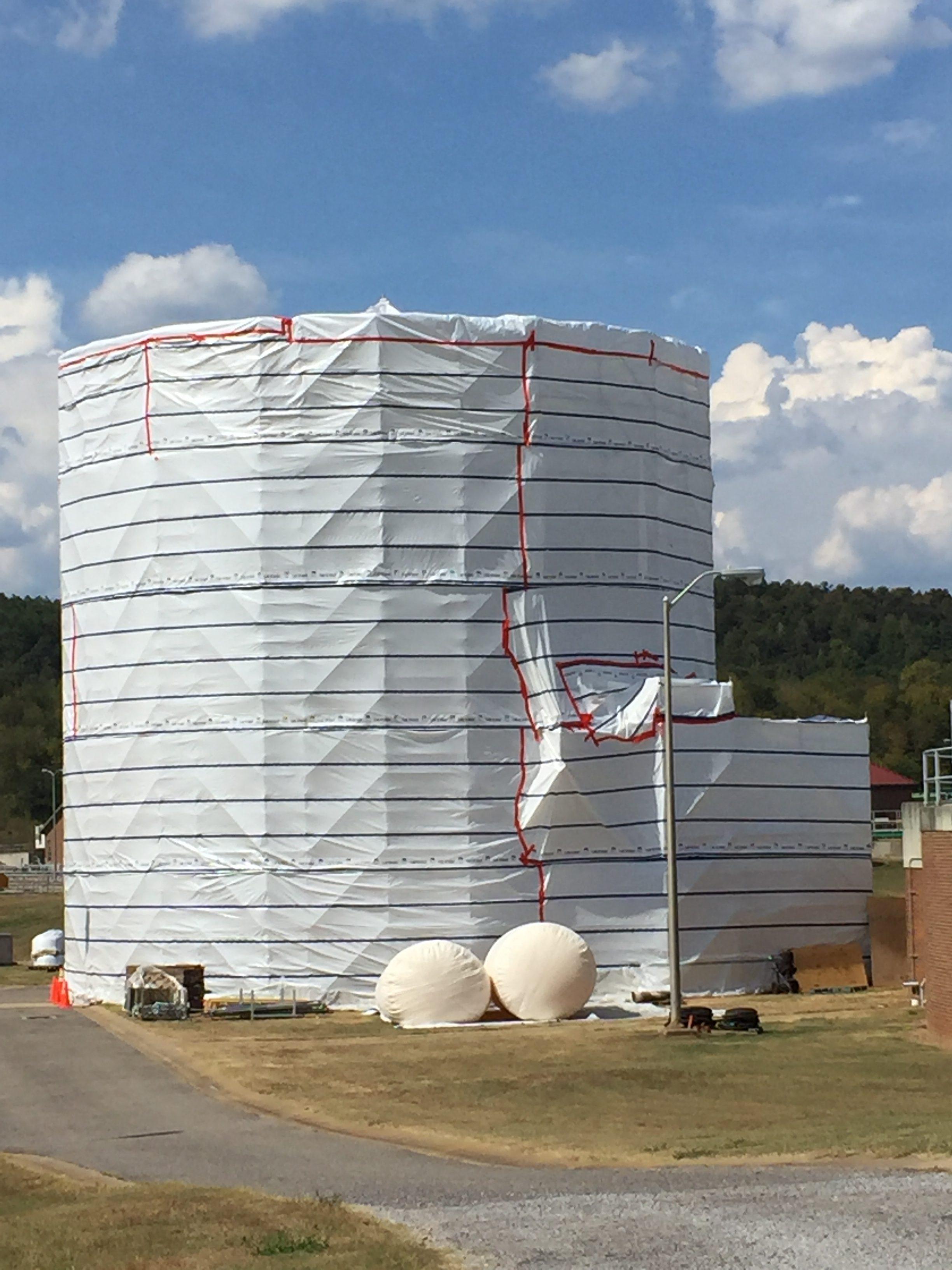 Round Sphere Tank scaffold 1