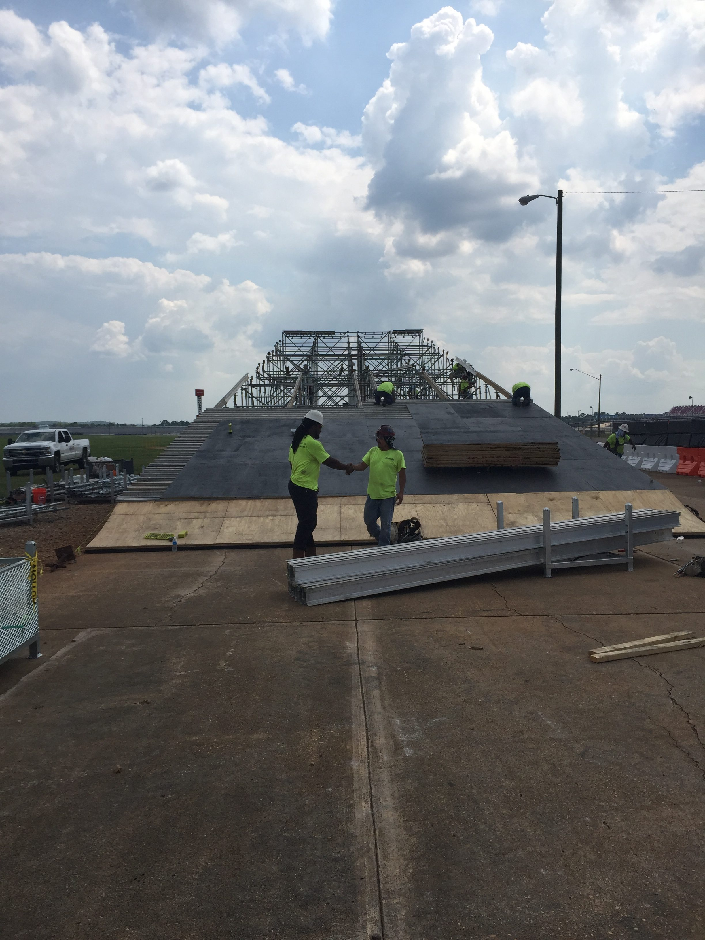 Talledega Superspeedway scaffold motorcycle ramp 5