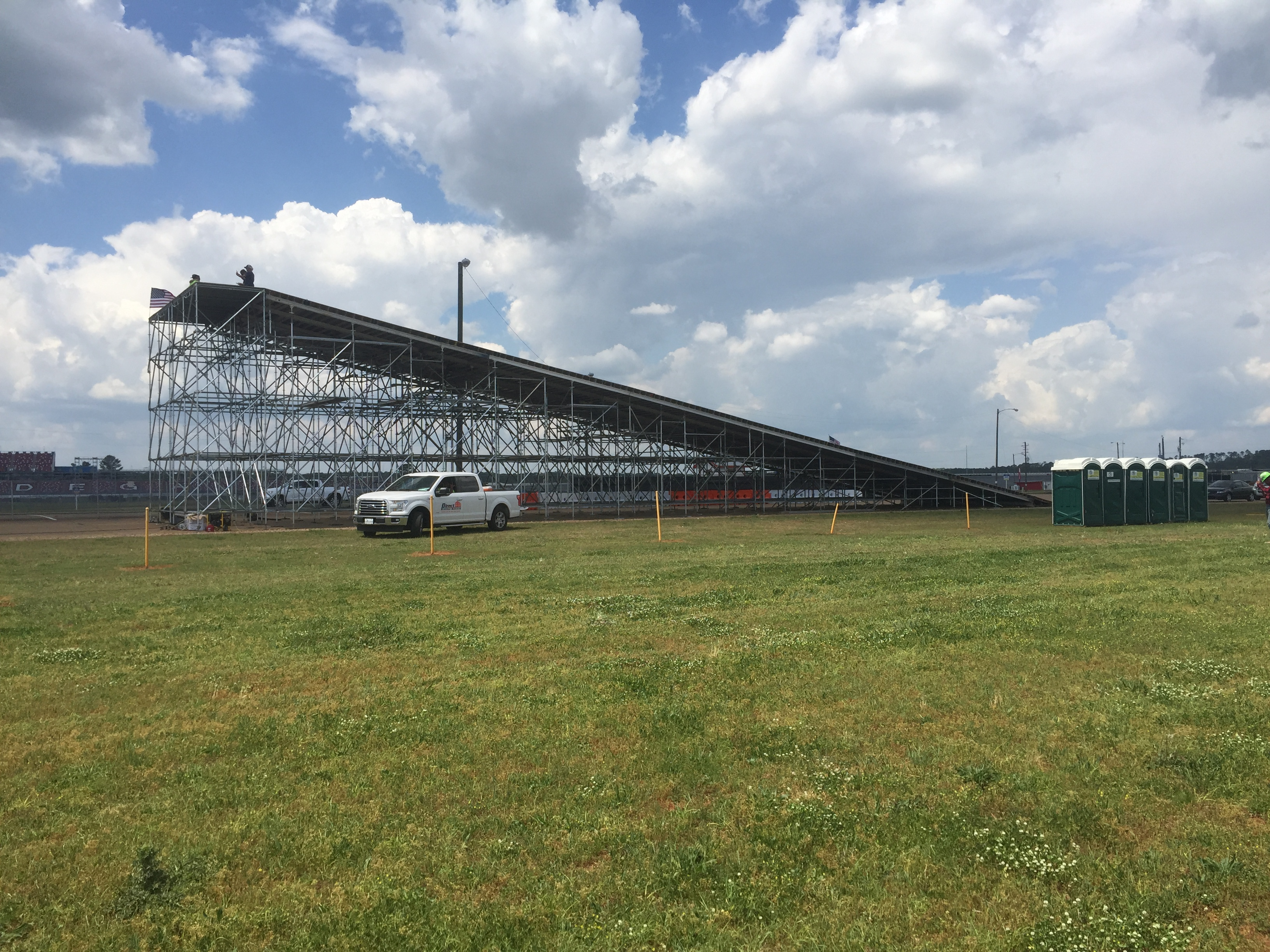 Talledega Superspeedway scaffold motorcycle ramp 1