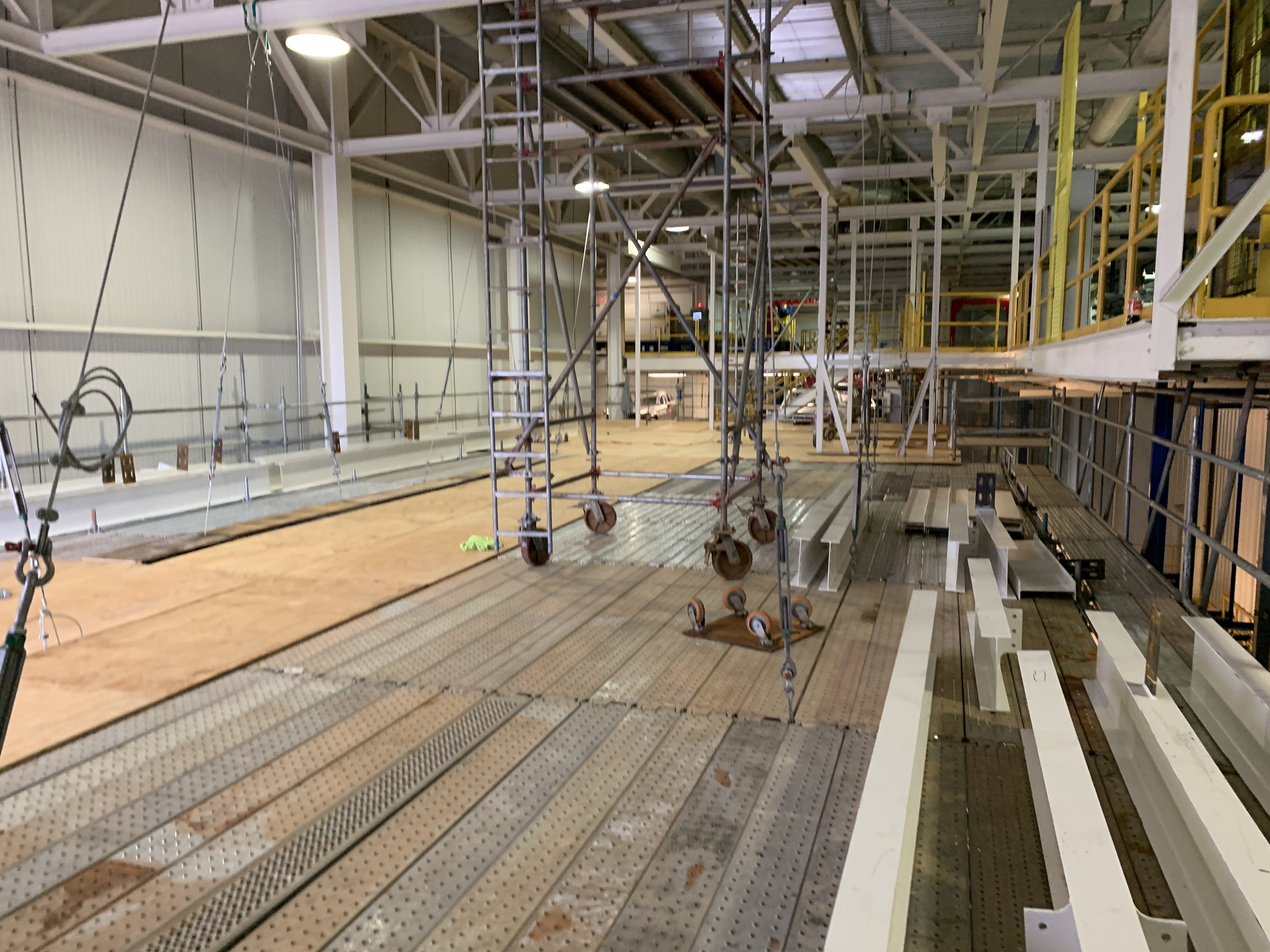 New Mezzanine in Industrial Plant scaffold 20