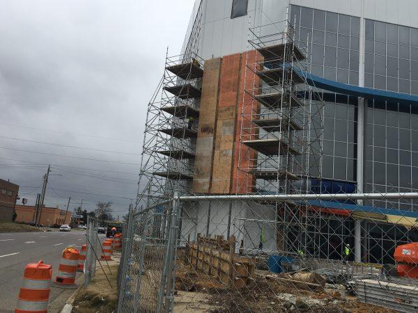 AmFirst Bank sign scaffold 9