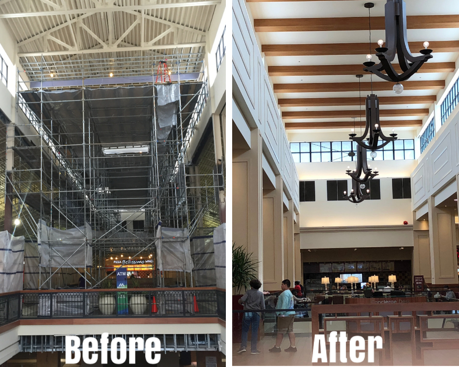 Brookwood Mall Renovation scaffold