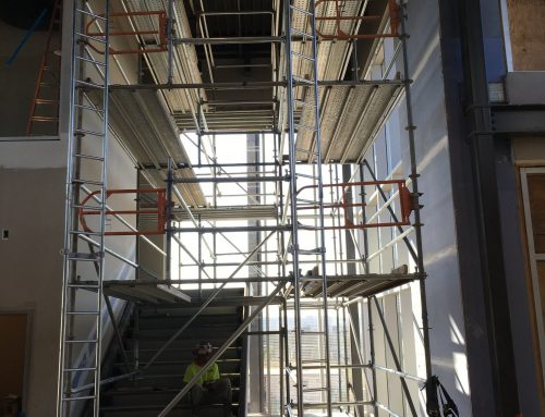 Top Golf Stairwell Scaffold