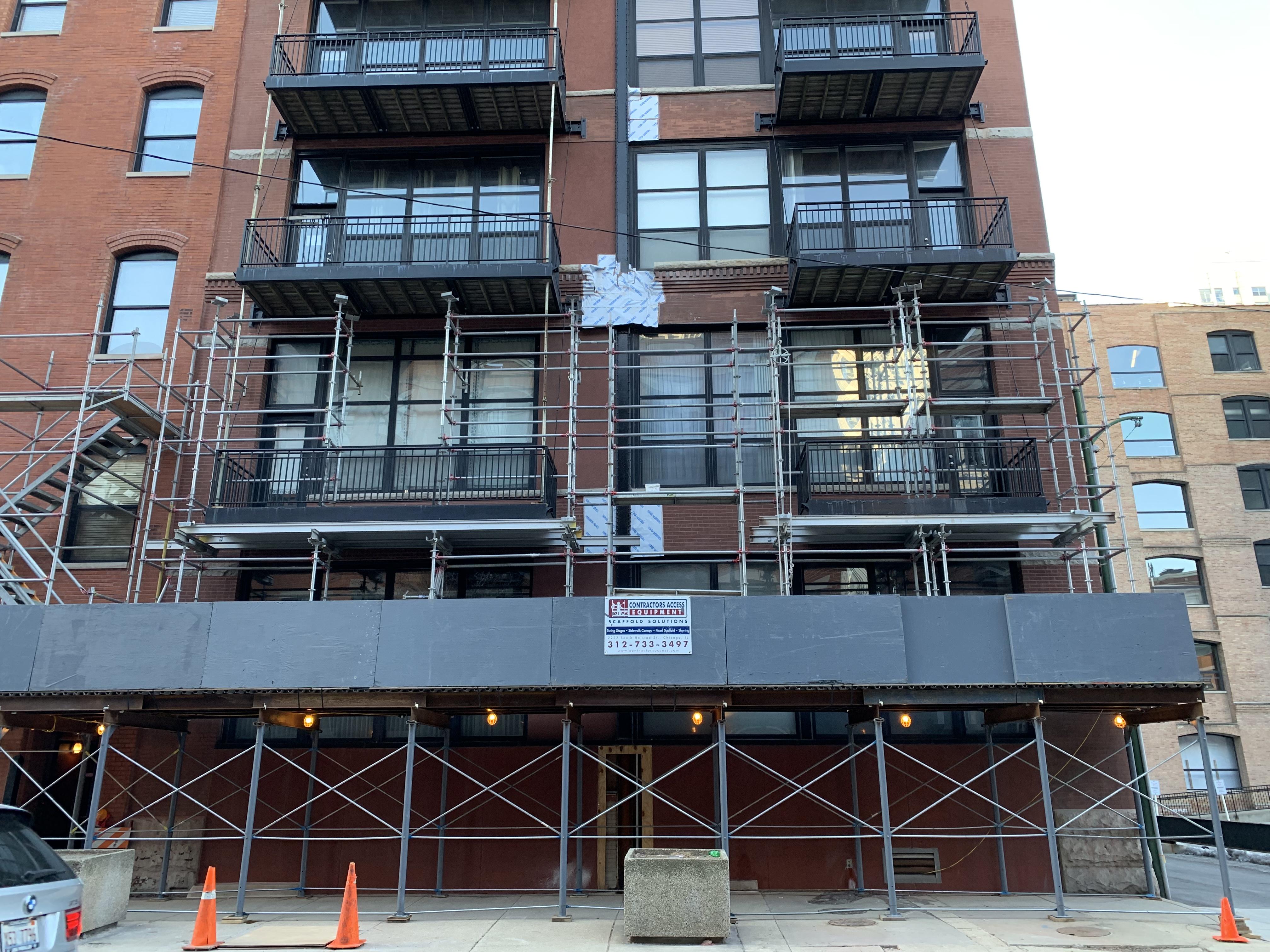 541 W. Fulton - Shoring & Tower scaffold 2