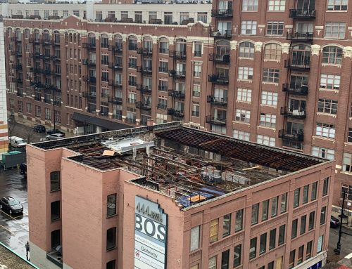 444 N. Orleans scaffold