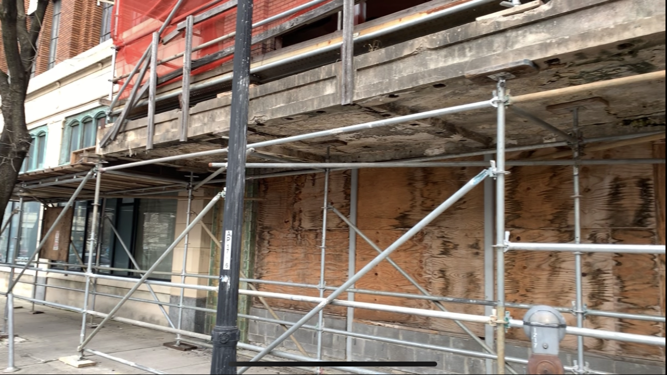 Ferguson Building scaffold 7