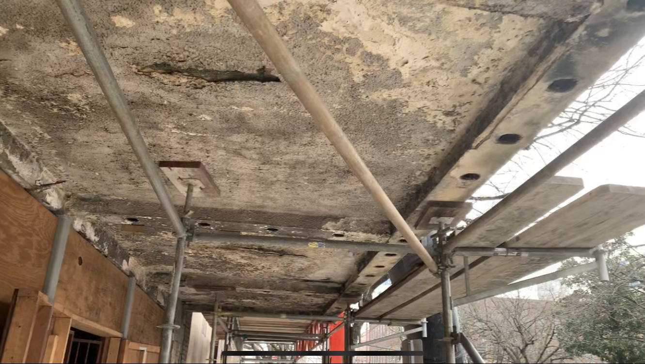 Ferguson Building scaffold 6