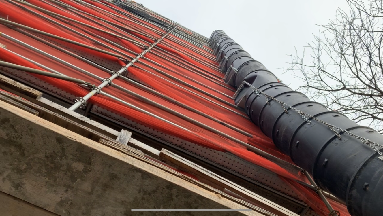Ferguson Building scaffold 5