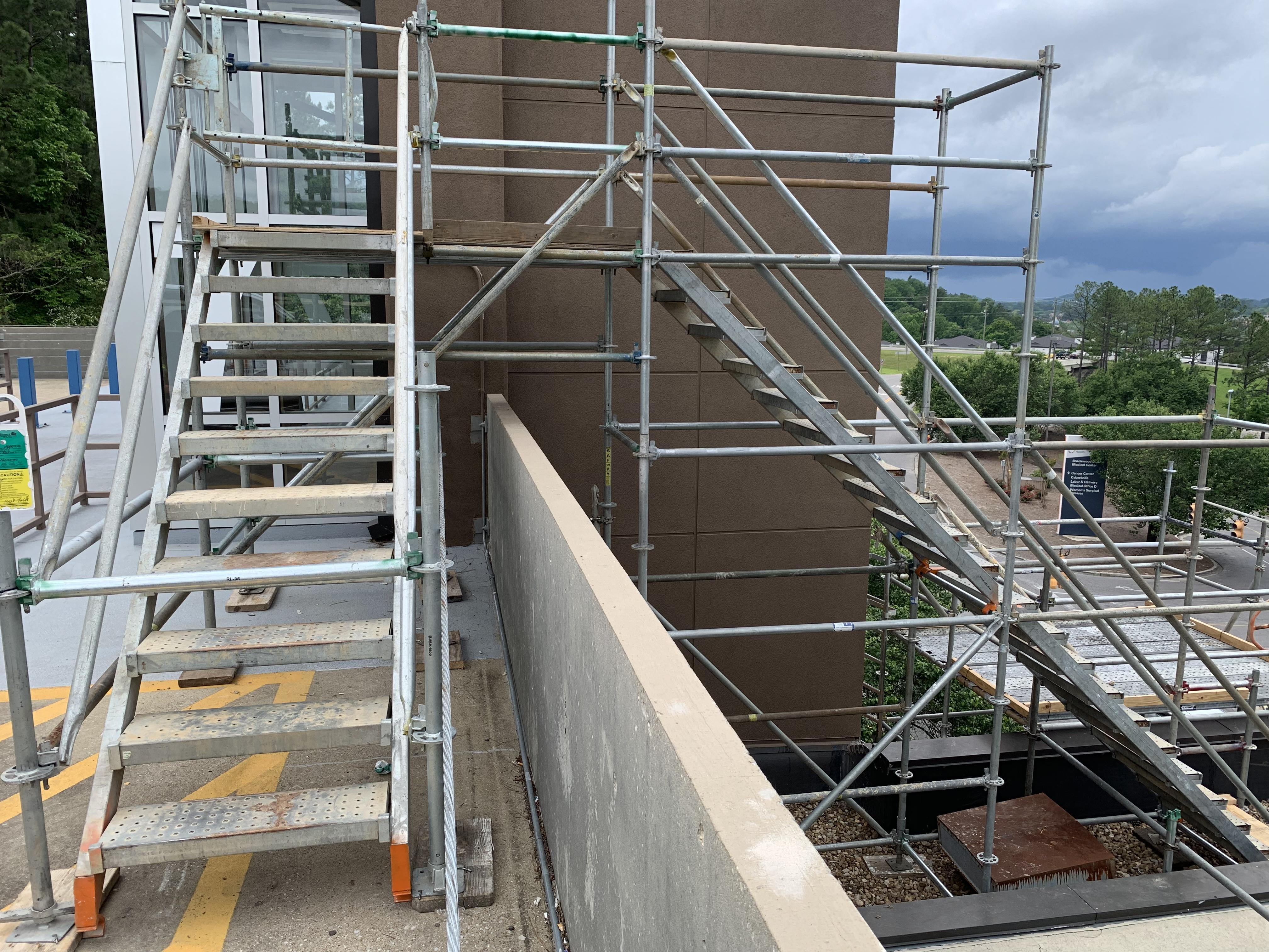 Brookwood Hospital scaffold 7