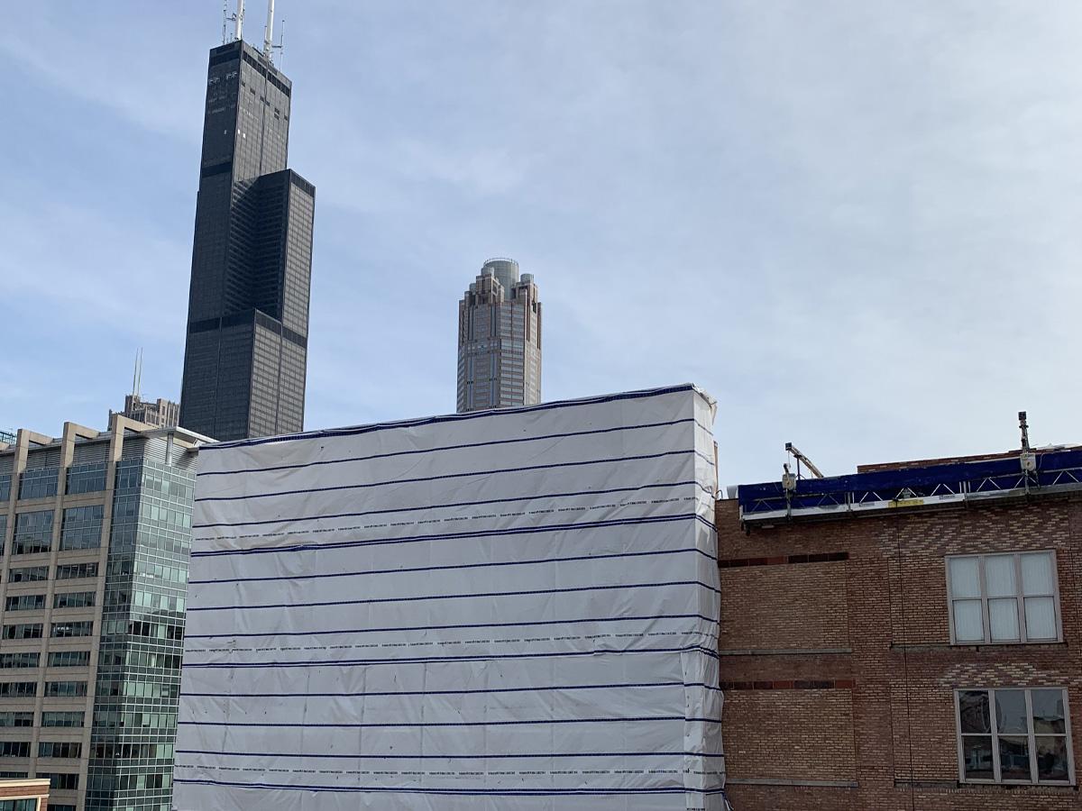 Clinton Complex Lofts scaffold