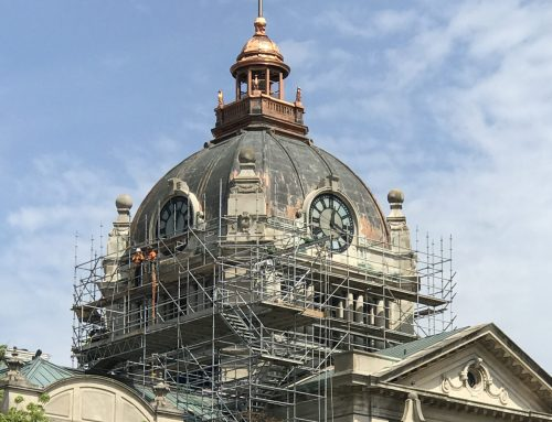 Brown County Court House scaffold
